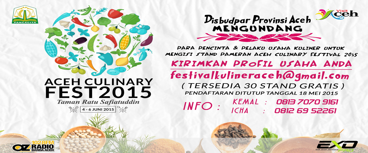 Press Release Aceh Culinary Festival 2015